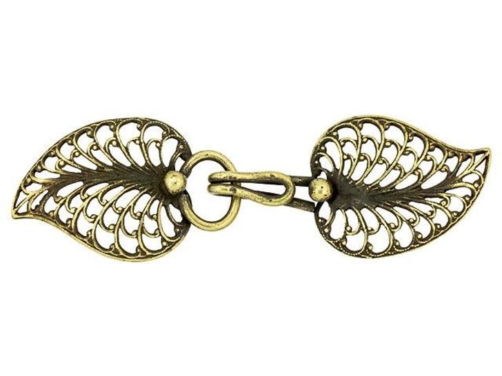 Kabela Design Exotic Leaf Hook and Eye Clasp