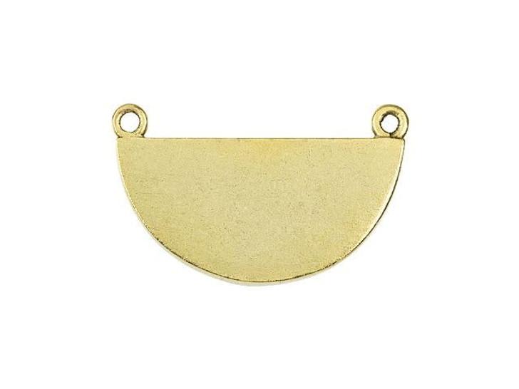 Nunn Design Antique Gold-Plated Pewter Half Circle Grande Bezel Pendant