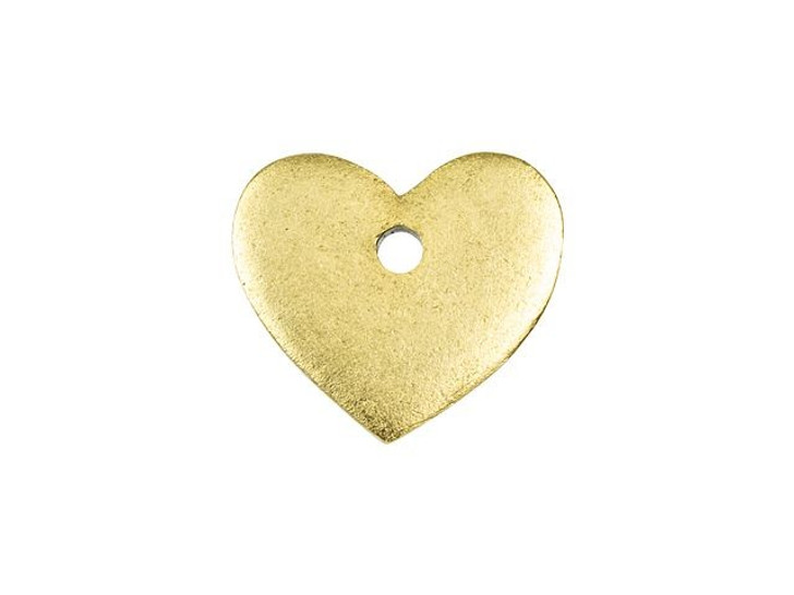 Nunn Design Antique Gold-Plated Pewter Mini Heart Flat Tag