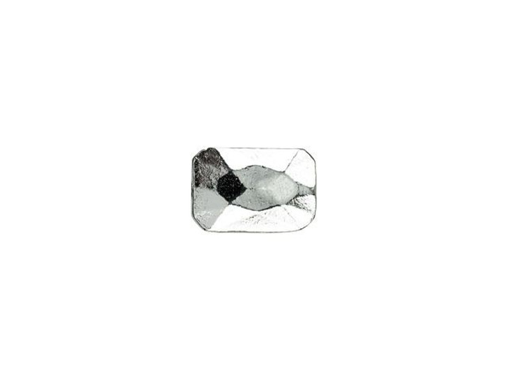 Nunn Design Silver-Plated Pewter 13 x 9mm Faceted Rectangle Metal Bead
