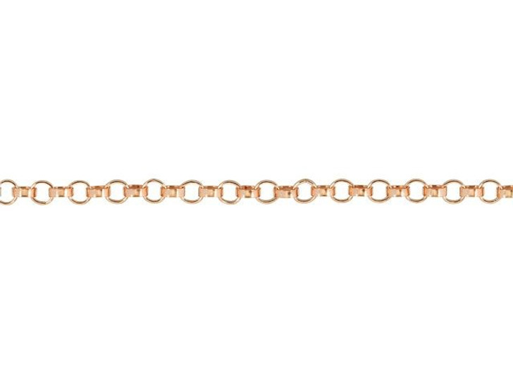 Rose Gold-Filled 1.1mm Rolo Chain By the Foot