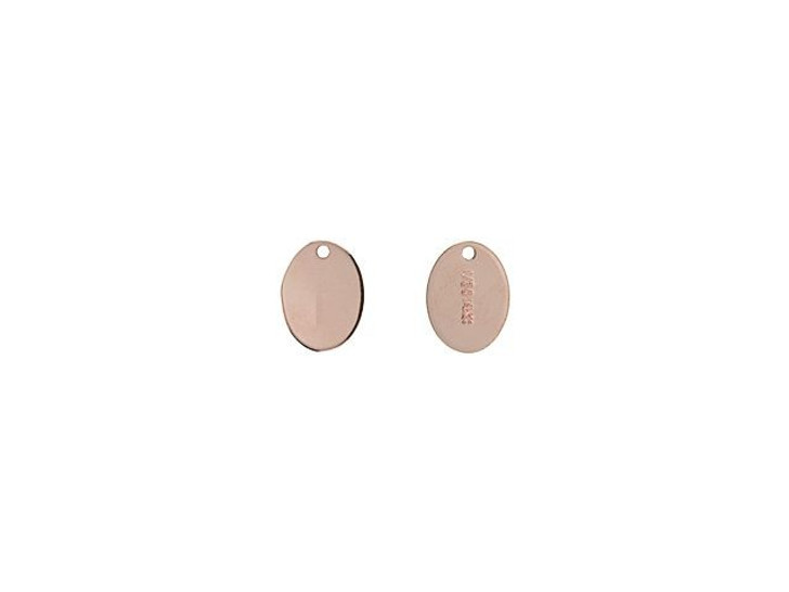 Rose Gold-Filled 7.3 x 5.5mm Oval Quality Tag