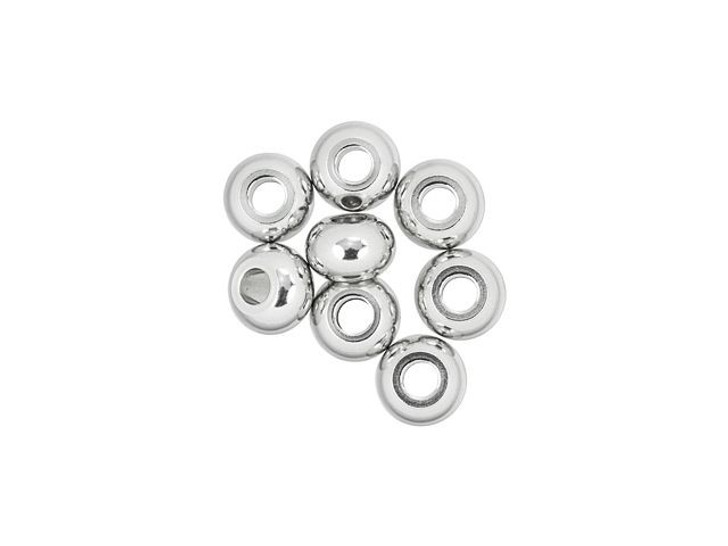 Stainless Steel 8mm Donut Spacer Bead (8pc pack)