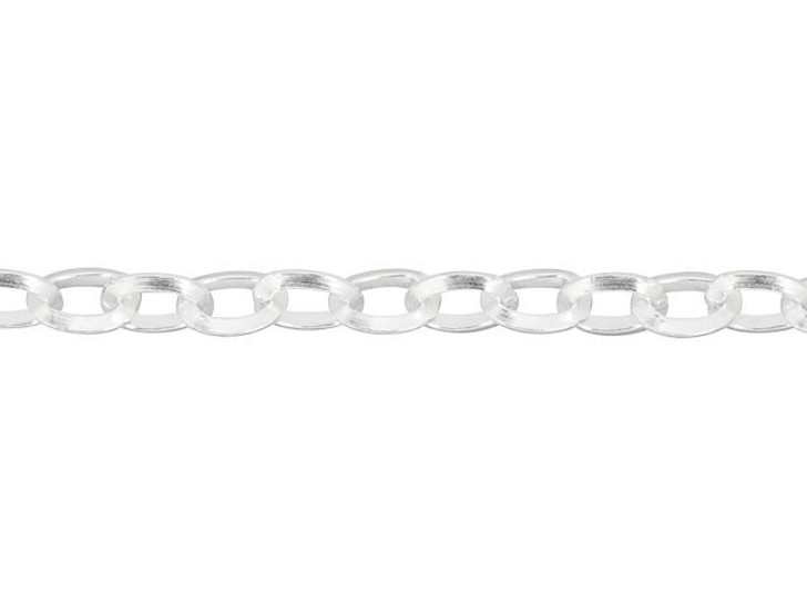 Sterling Silver 2.6mm Triangular Rolo Chain By the Foot