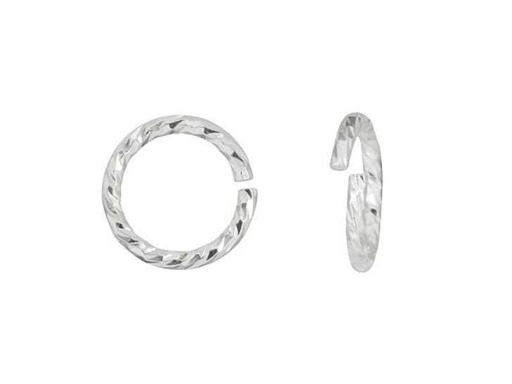 Sterling Silver 20 Gauge 6mm Sparkle Open Jump Ring
