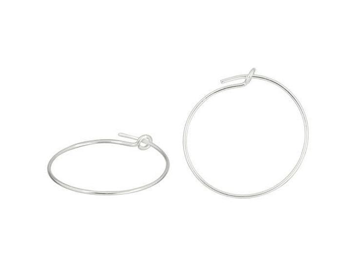 Sterling Silver 20mm 21 Gauge Wire Beading Hoop (Pair)