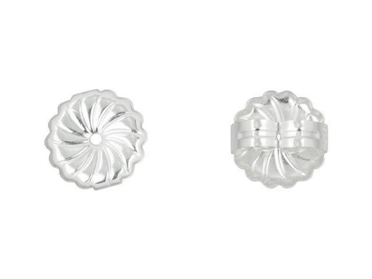 Sterling Silver 9mm Premium Earring Back