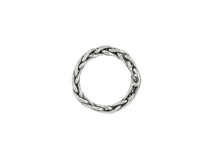 Sterling Silver Braided Rope Link