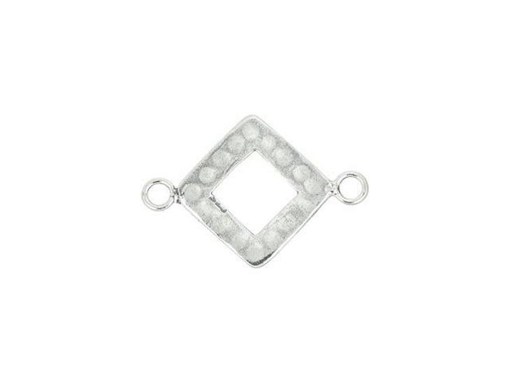 Sterling Silver Diamond Frame Link