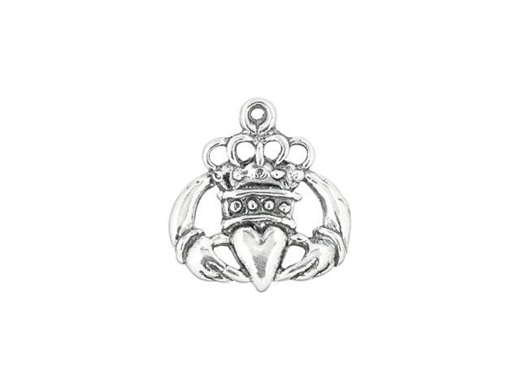 Sterling Silver Fancy Claddagh Dangle Charm