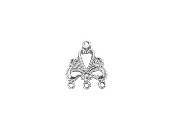 Sterling Silver Fancy Floral Chandelier