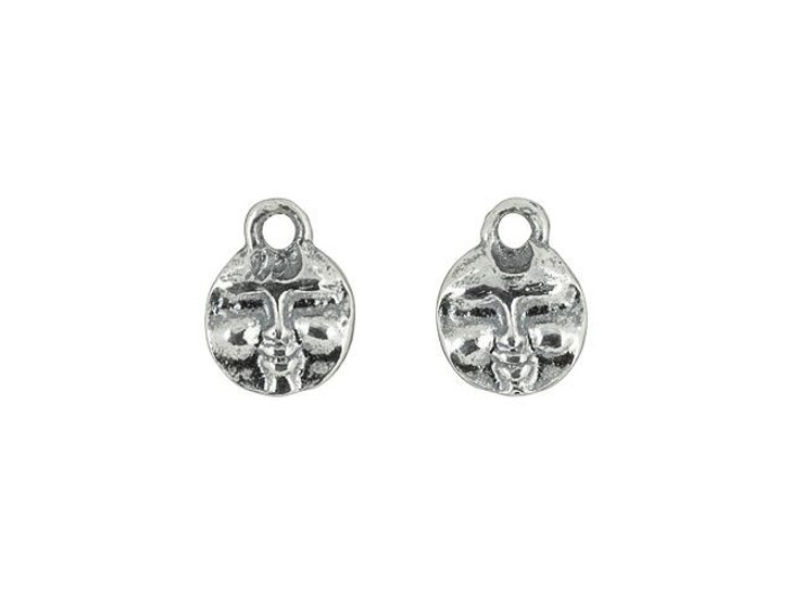 Sterling Silver Moon Face Charm