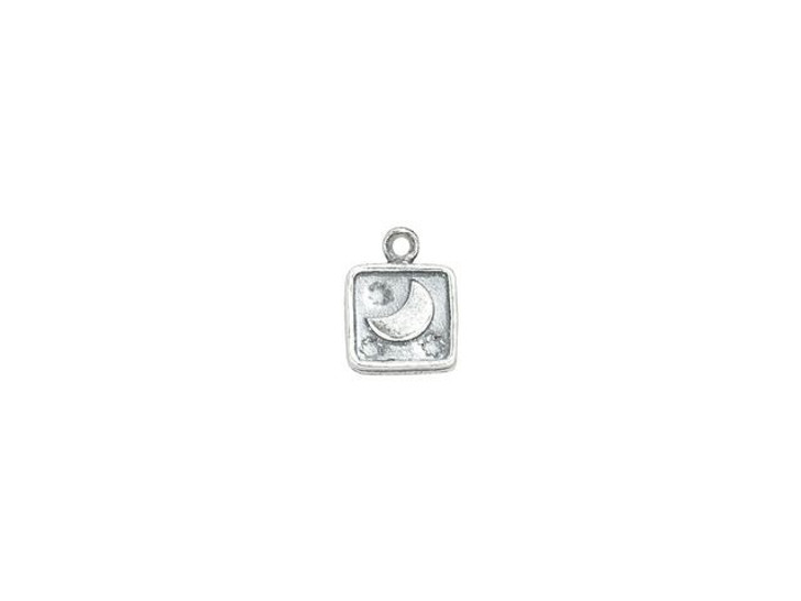 Sterling Silver Moon in Square Charm