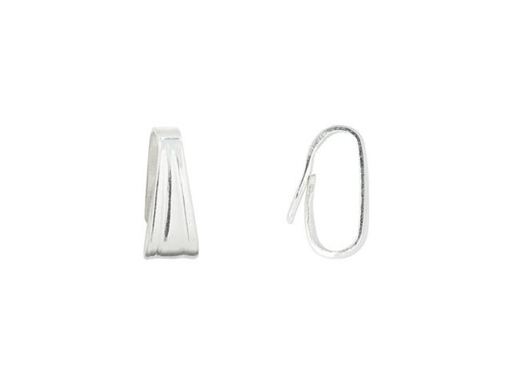 Sterling Silver Small Locket Bail (2.2x5.3mm)
