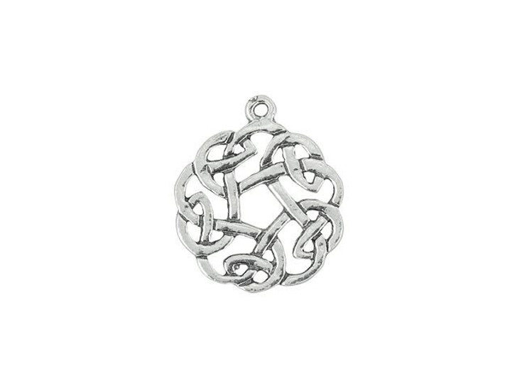 Artbeads Sterling Silver Small Round Celtic Knot Wreath Charm