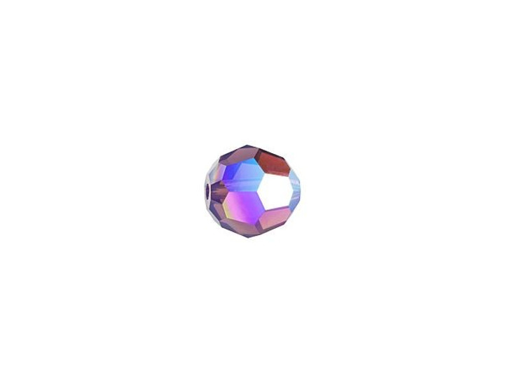 Swarovski 5000 4mm Faceted Round Cyclamen Opal Shimmer