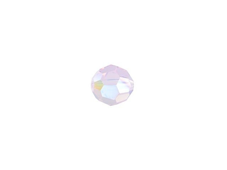 Swarovski 5000 4mm Faceted Round Rose Water Opal Shimmer