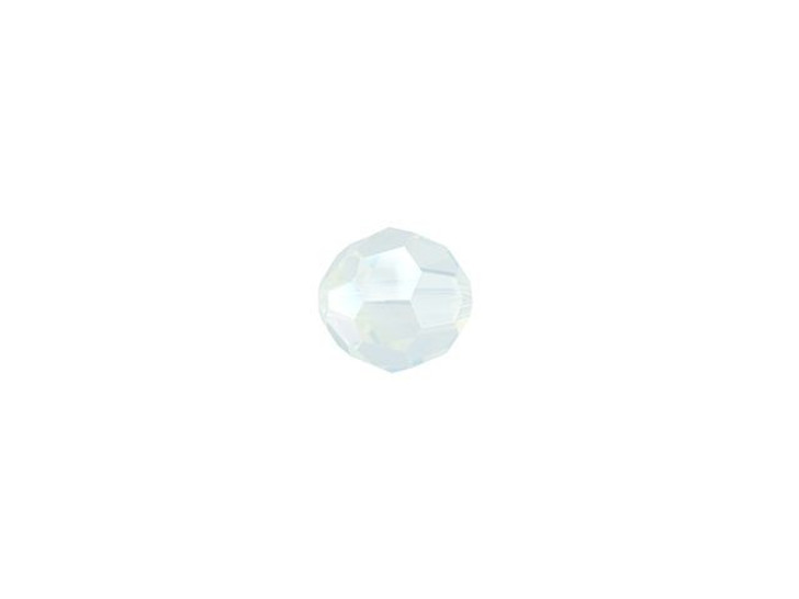 Swarovski 5000 4mm Faceted Round White Opal Shimmer
