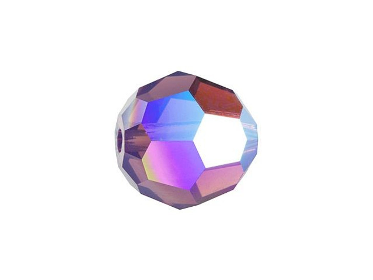 Swarovski 5000 8mm Faceted Round Cyclamen Opal Shimmer