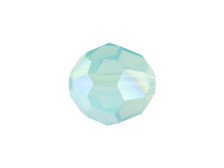 Swarovski 5000 8mm Faceted Round Pacific Opal Shimmer