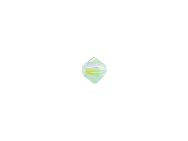 Swarovski 5328 3mm XILION Bicone Chrysolite Opal Shimmer 2x