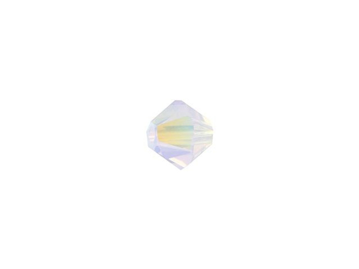Swarovski 5328 4mm XILION Bicone Rose Water Opal Shimmer 2x