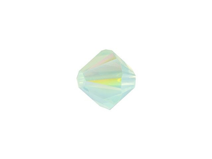 Swarovski 5328 6mm XILION Bicone Chrysolite Opal Shimmer
