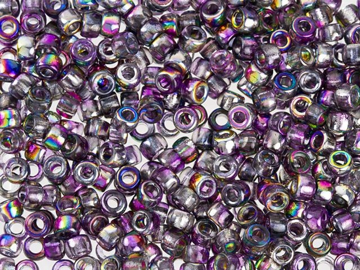 Czech Glass 7/0 Matubo Seed Beads Magic Violet Gray approx. 7.5g Tube