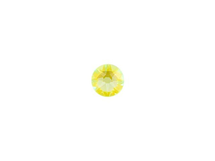 Swarovski H2038 SS10 Hotfix Xilion Rose Flatback Crystal Electric Yellow LacquerPRO DeLite