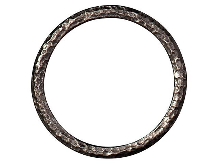 TierraCast 1.25-inch Black Finish Pewter Hammertone Ring Link