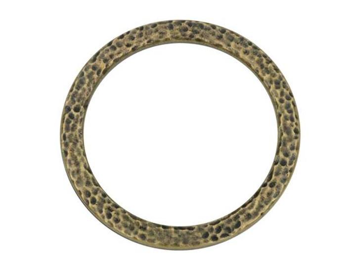 TierraCast 1.25-inch Oxidized Brass-Plate Hammertone Ring Link