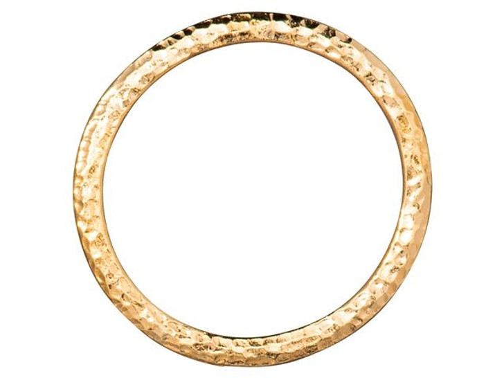 TierraCast 1.25-inch Gold-Plated Pewter Hammertone Ring Link
