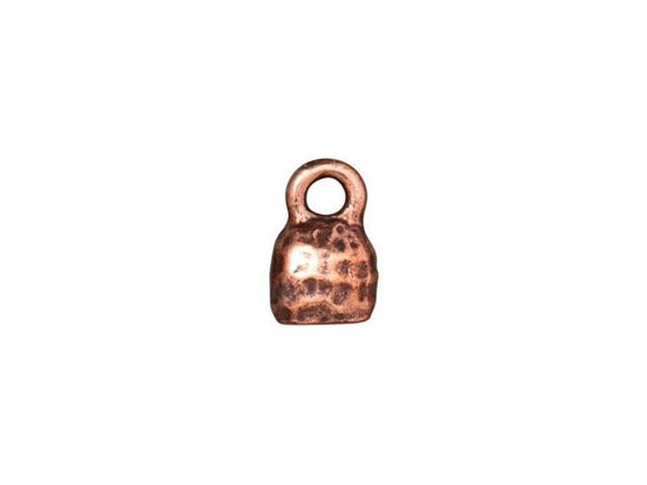 TierraCast 4 x 2mm Antique Copper-Plated Pewter Distressed Crimp End Cap