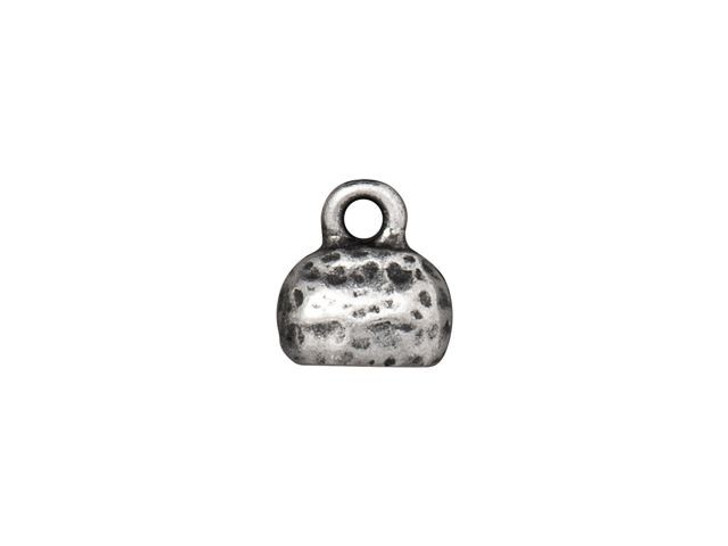 TierraCast 6 x 2mm Antique Pewter Distressed Crimp End Cap
