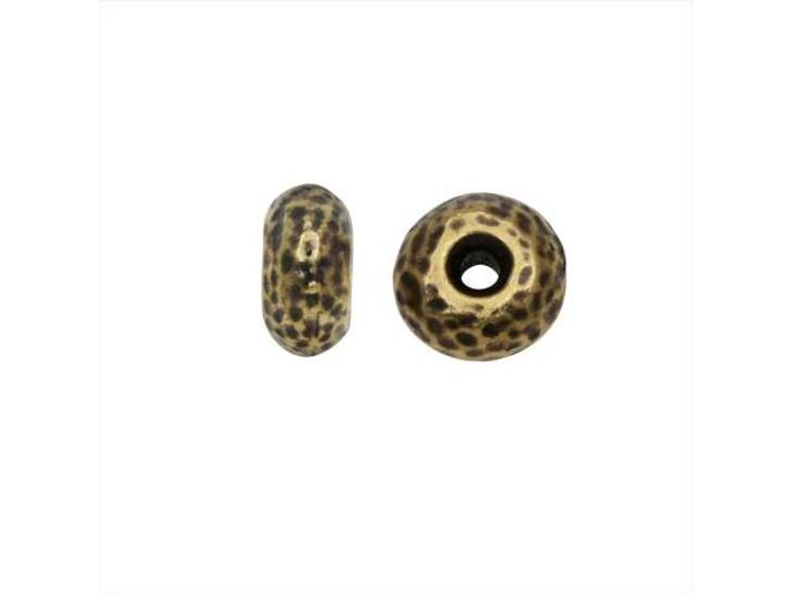 TierraCast 7mm Oxidized Brass-Plate Hammertone Rondelle Bead