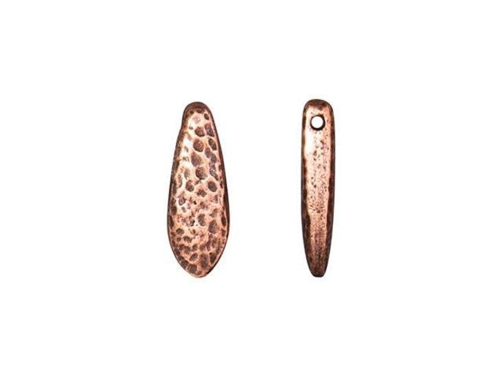 TierraCast Antique Copper-Plated Pewter Hammertone Dagger Bead