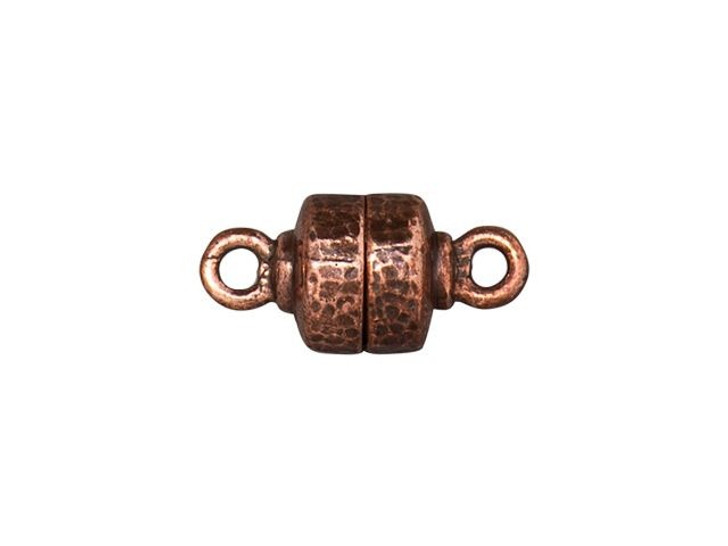 TierraCast Antique Copper-Plated Pewter Hammertone Magnetic Clasp Set