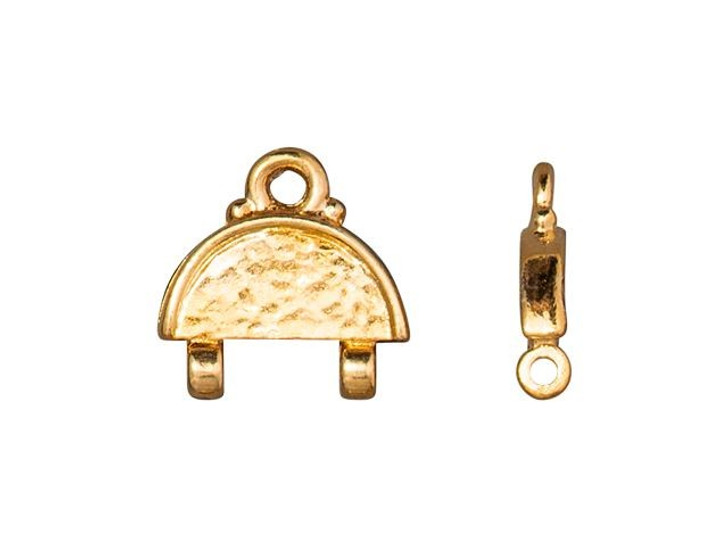 TierraCast Gold-Plated Pewter Hammertone Stitch-In Link