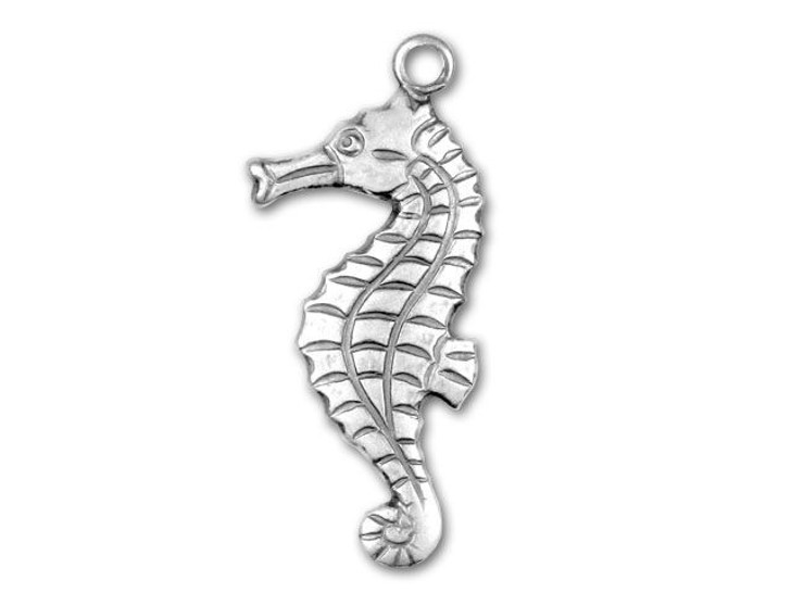 Antique Silver Plated Seahorse Charm