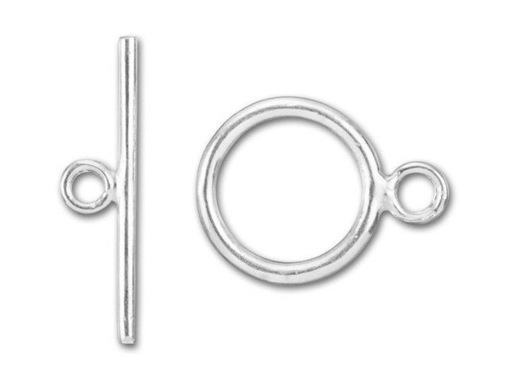 Sterling Silver Round 16mm Toggle Clasp