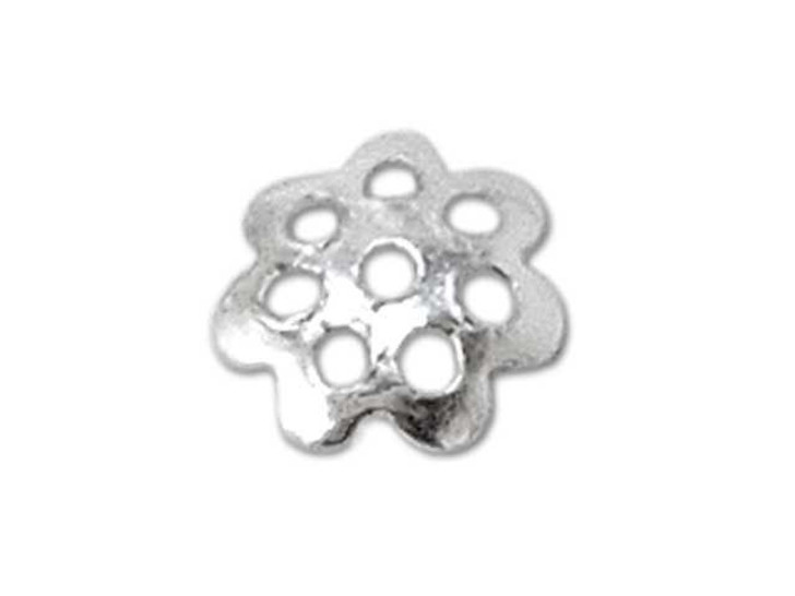 Sterling Silver Flower 5mm Bead Cap