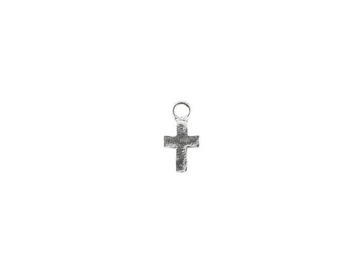 Sterling Silver 12 x 6mm Cross Charm