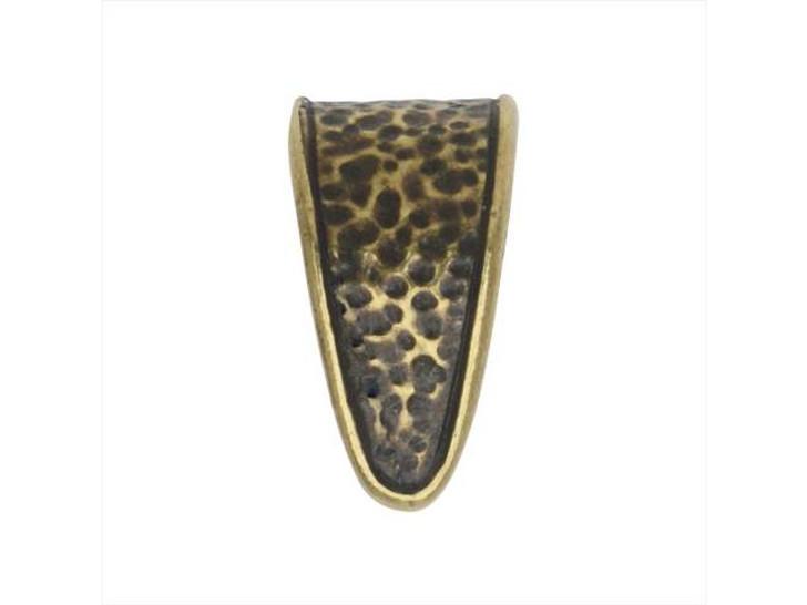 TierraCast Hammertone Oxidized Brass-Plate Pinch Bail