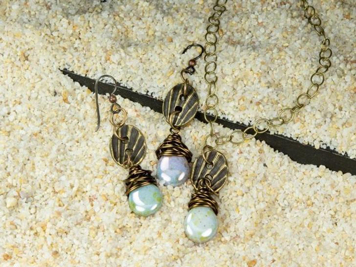 CLEARANCE 6 Pairs VINTAGE TIERRACAST Earrings Beaded Design 16mm Length