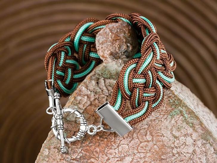 Chocolate Mint Swirl Bracelet