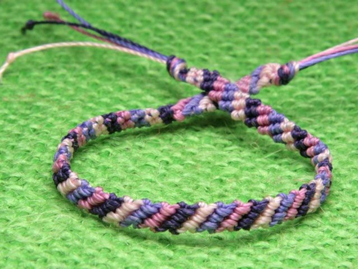 Diagonal Weave Friendship Bracelet