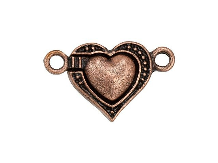 Antique Copper-Plated Magnetic Heart Clasp