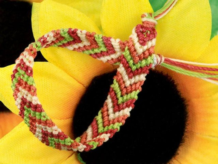 Herringbone Weave Friendship Bracelet