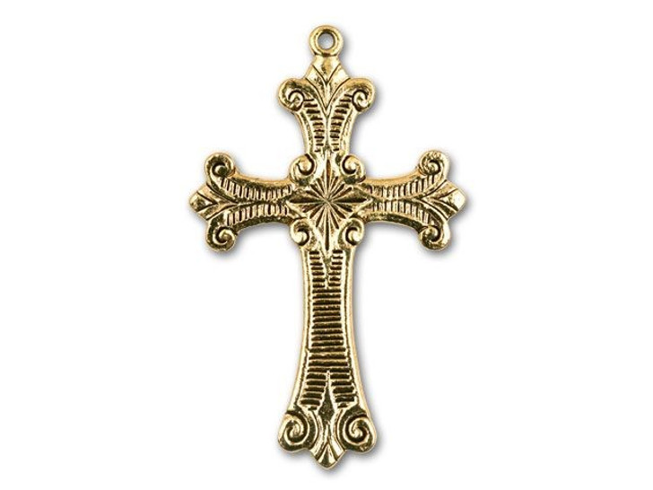 Antique Gold Fancy Cross