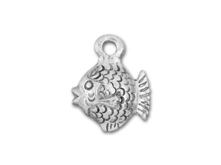 Antique Pewter Fish Charm